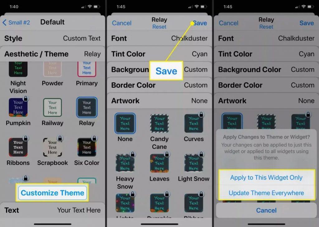 كيفية إضافة أدوات مخصصة إلى شاشة هاتف آيفون الرئيسية: