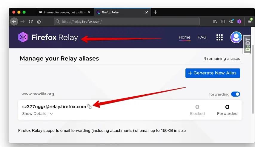 استخدم بريد إلكتروني خاص لتأمين بياناتك